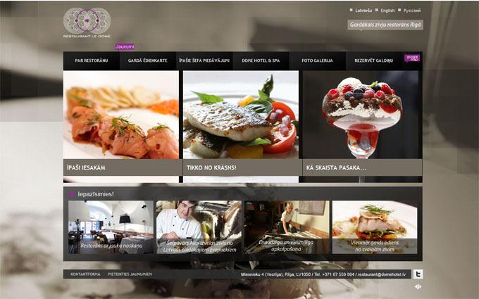 Le Dome, Zivju Restorāns,Restorāns, Kafejnīca, Bizness, CSS