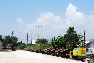 Κατάληψη της σιδηροδρομικής γραμμής στο Μεσολόγγι.