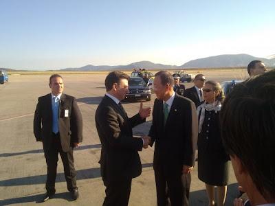 Με τον Γενικό Γραμματέα του ΟΗΕ ο Θάνος Μωραίτης