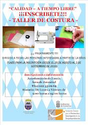 TALLER DE COSTURA COMIENZO 17 DE SEPTIEMBRE LUGAR: CENTRO CULTURAL LOS ROQUES