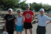 Tom Osler, Kathy and Chuck Crabbe and Jerry Nolan at Cooper River