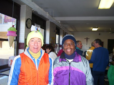 Lorraine and Running Legend Tom Osler after a recent 5k