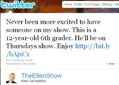 Greyson Michael Chance Stars | Greyson Michael Chance on The Ellen DeGeneres Show