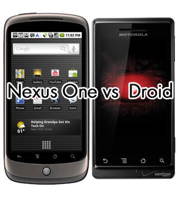 New Google Phone Nexus One | Nexus One vs Droid