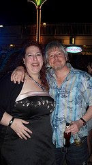 Me, with Dave Foley, somewhere in the Caribbean