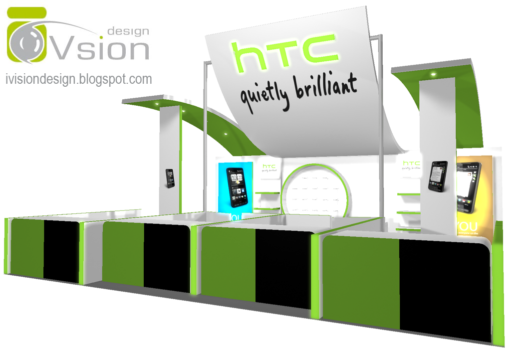ivision design malaysia, Exhibition Booth Design for HTC
