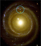 But our galaxy is about 100,000 light years across (or a bit bigger, .