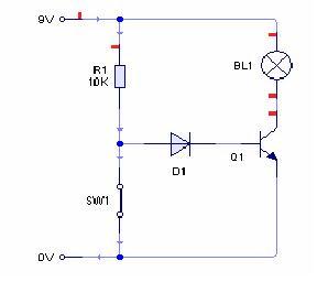 rangkaian gerbang dengan transistor