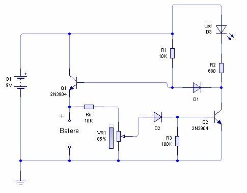 Gambar rangkaian charger batere otomatis | Gambar rangkaian pengisi