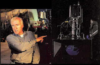 James Cameron with a beamsplitter 3D camera rig