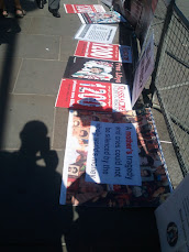 Information stall against libyan Bosleem massacre