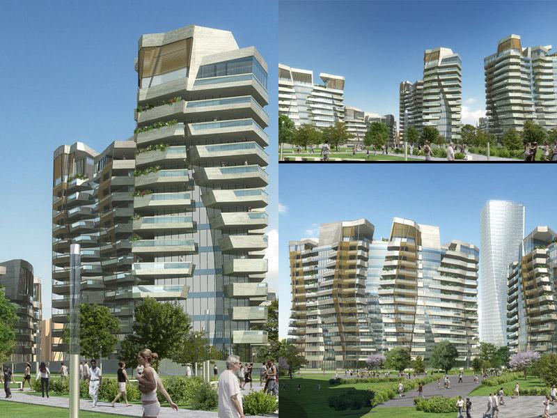 milano, citylife, residenze libeskind