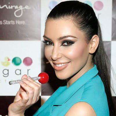 kim kardashian, lollipop, sugar factory