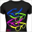 80's glasses, tshirt