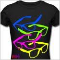 80's glasses, tshirt