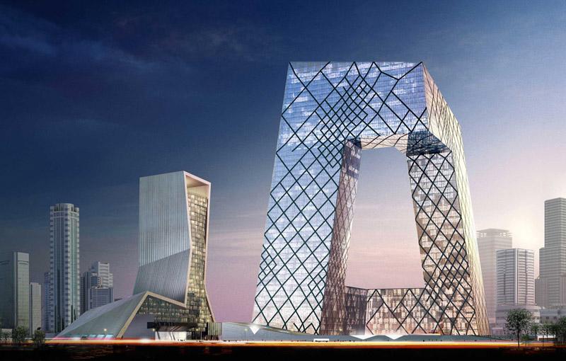 pechino, beijing, cctv headquarters, rendering