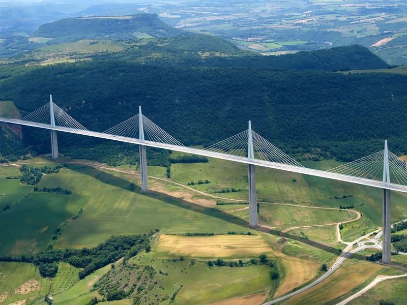 viadotto millau, francia, ponte, viaduc