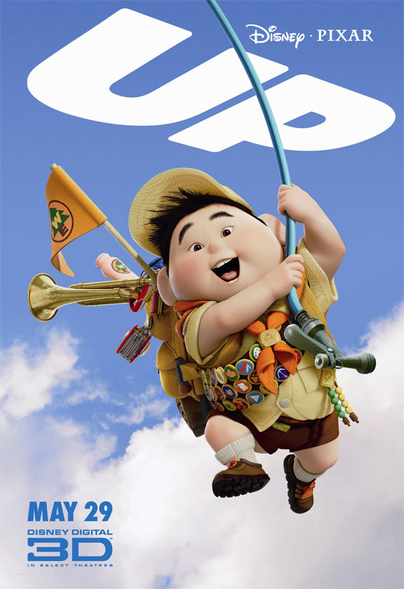 pixar, carl up, locandina