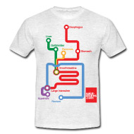 tshirt, apparato digerente, digestive system, mappa metropolitana