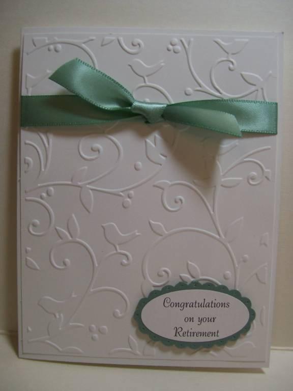 Supplies used: Birds and Swirls CB embossing folder, SU Whisper White ...