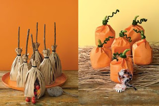 favor bags with Halloween theme