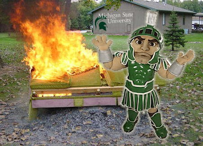 Image result for sparty dumpster fire