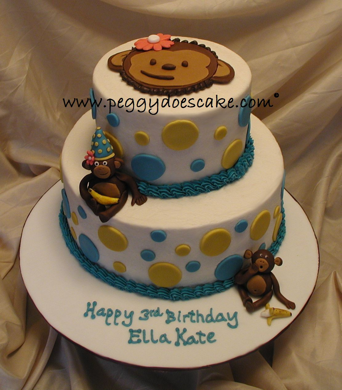 Peggy Does Cake.: Ella Kate's Mod Monkey Cake (click on photos to ...