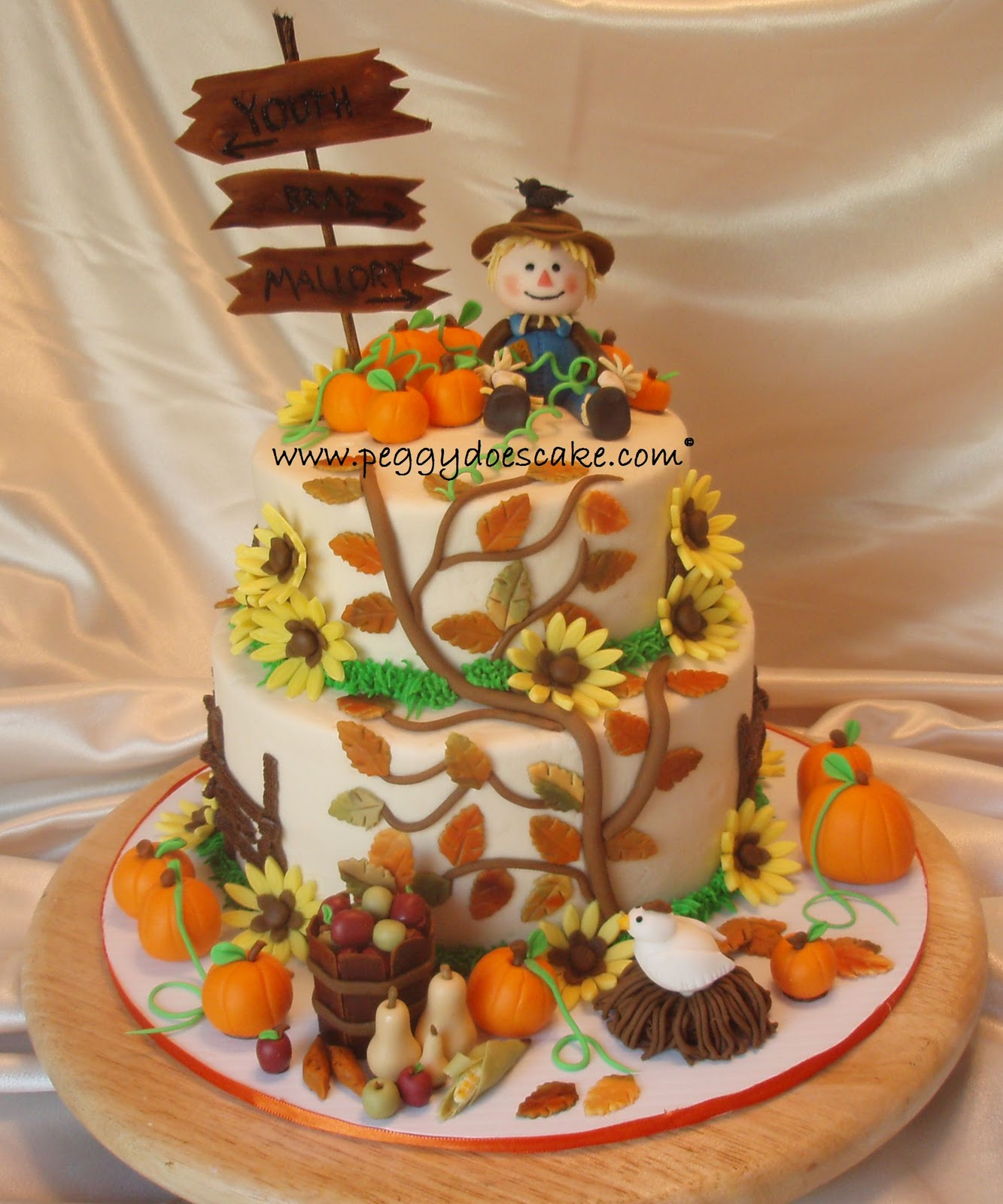 Decorated Chocolate Fall Cakes Pinterest