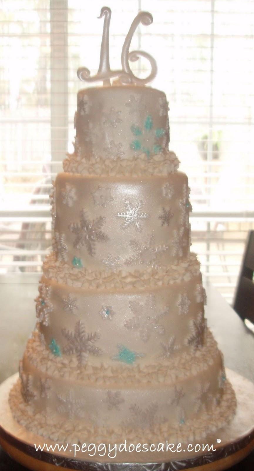 Peggy Does Cake Alyssas Winter Wonderland Sweet 16 Birthday
