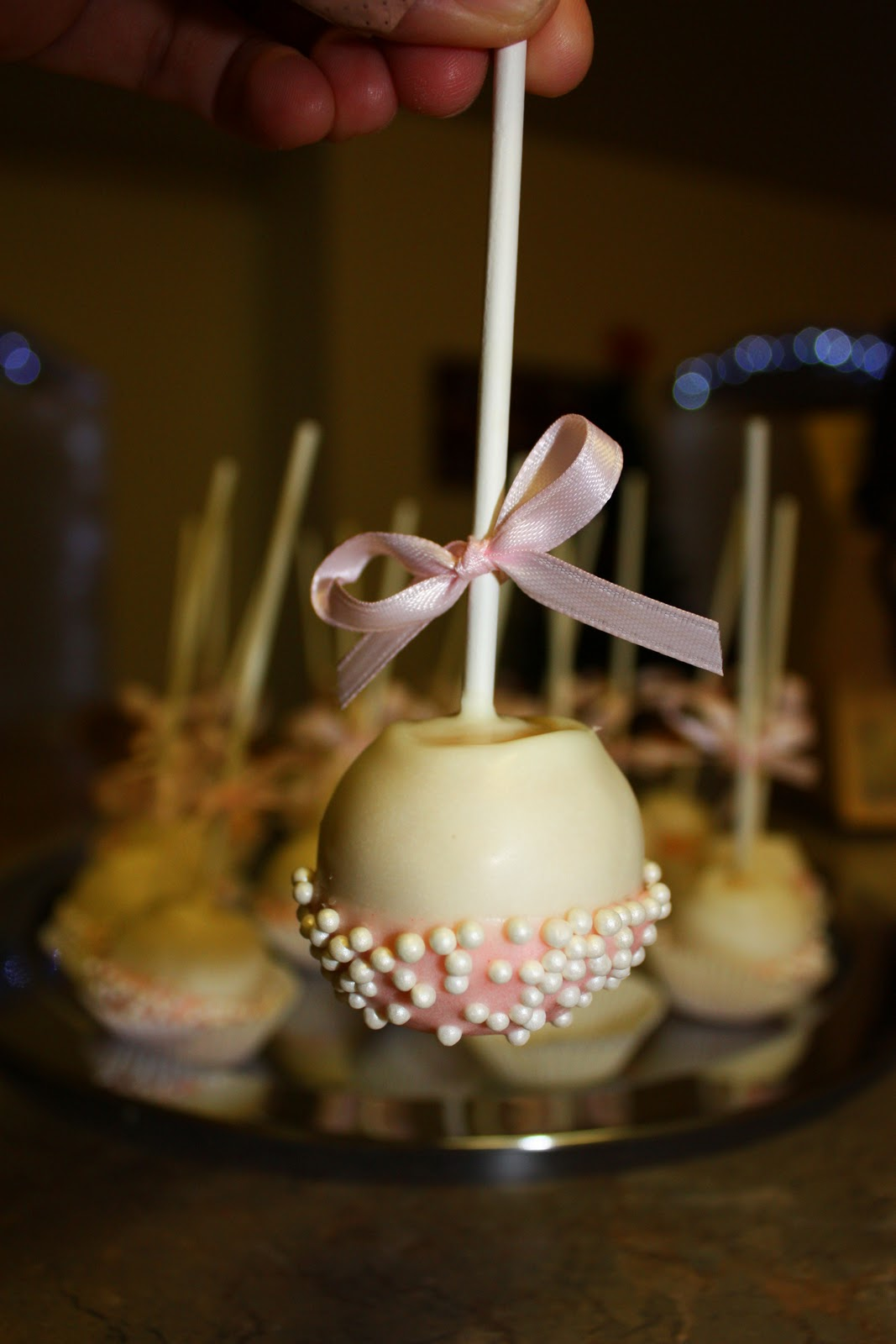 artificially sweetened by dee baby shower cake pops