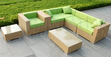 Outdoor Wicker Sectional Sofa Daybed Patio