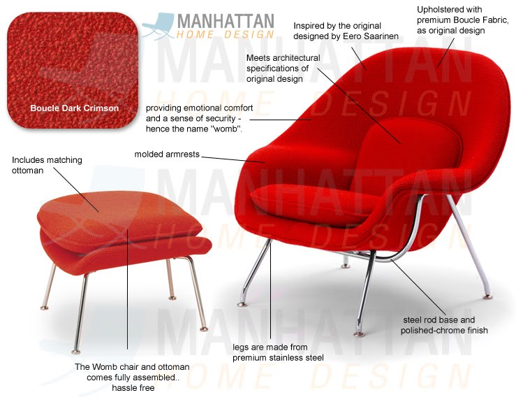 Womb lounge chair u0026 Ottoman Eero Saarinen  sc 1 st  Interior Design & Womb lounge chair u0026 Ottoman Eero Saarinen | Interior Design