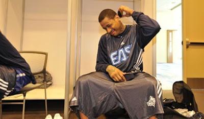 Allen iverson cut his hair