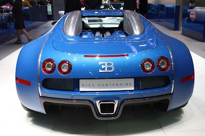 Bugatti Veyron Blue Centenaire 1.350 HP at Geneva Auto Show 2009