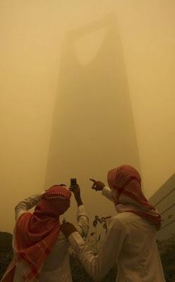 Sandstorm in Riyadh Saudi Arabia