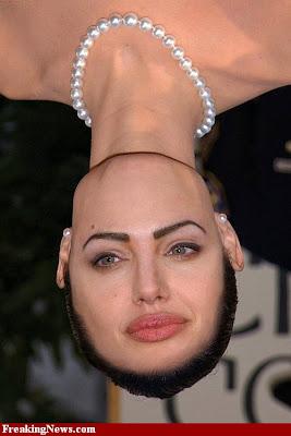 angelina jolie uside down photoshoped celebrity