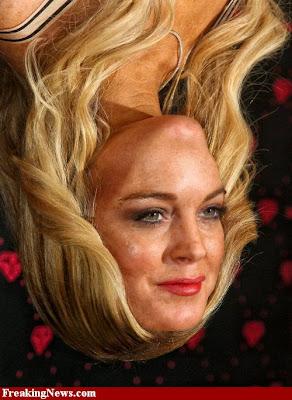 lindsay lohan upside down photoshoped celebrity