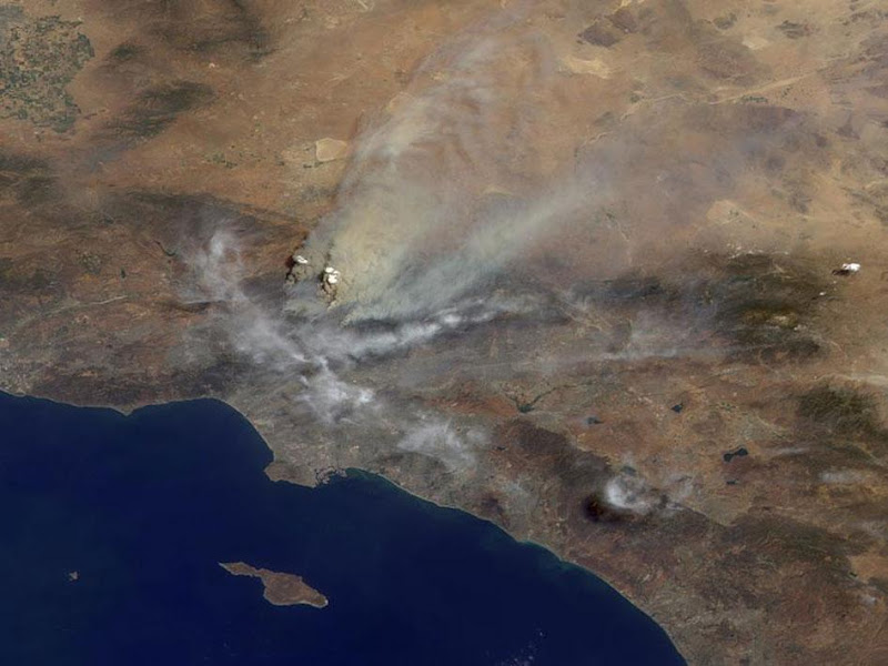 Los Angeles Fire Image From Space