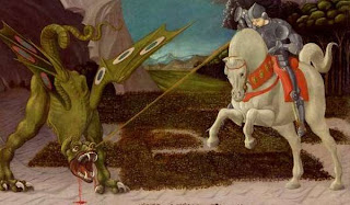 St George slaying the Dragon - a comment on the imperialism of Twitter.com and Technical PR, Engineering PR, Industrial PR, Manufacturing PR & Electronics PR. Well not Technical PR, Engineering PR, Industrial PR, Manufacturing PR & Electronics PR actually, just the imperialism bit really.