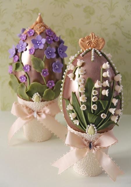 Huevos de Pascua de chocolate decorados de Patricia Arribálzaga