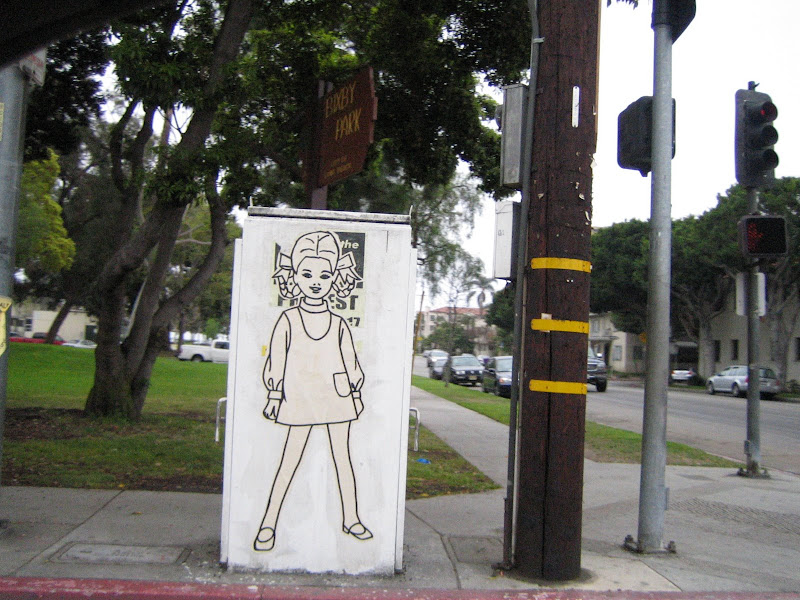 Wheatpaste girl, Broadway and Cherry, Long Beach
