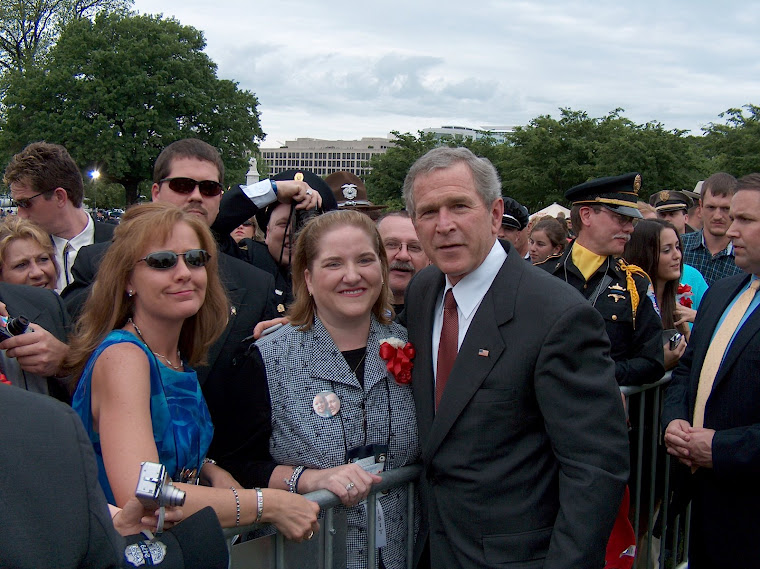President Bush and I at the National Memorial Service