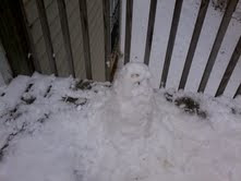 My janky snowman
