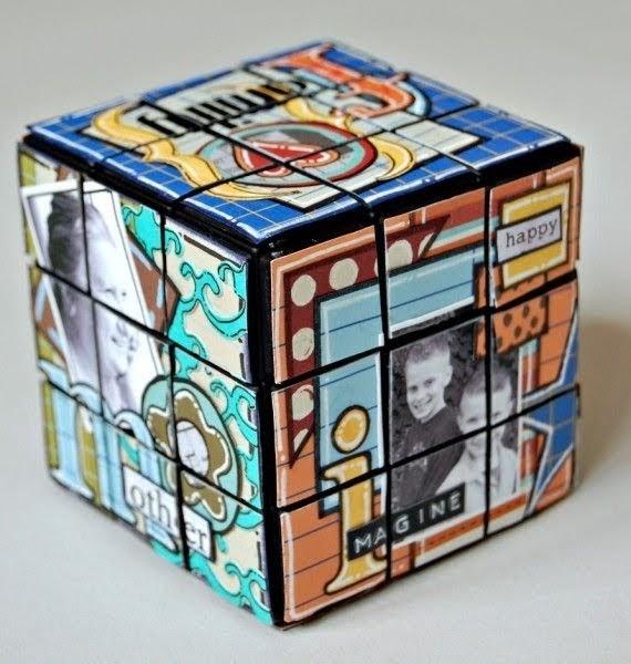 Scraptus en amour avec les rubix cubes - Idee scrapbooking amour ...