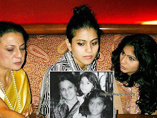 kajol with her sister and mother: kajold.blogspot.com Indian top stars childhood teen age and marriage photos