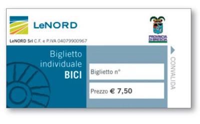 Biglietto Treno in Bicicletta LeNord