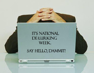 National Delurking Week - image via lizditz.typepad.com