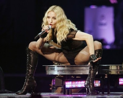 Madonna at 50: crotch shot