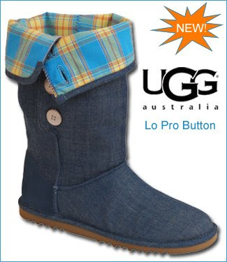 womens ugg lo pro button denim boots