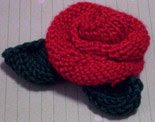 Knitted Rose &amp; Leaf Pattern 1